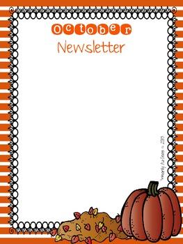 The Busy Teacher's Editable Newsletter Template