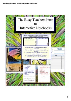 The Busy Teachers Intro to Interactive Notebooks