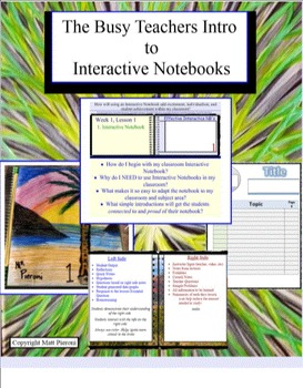 The Busy Teachers Intro to Interactive Notebooks (notebook file)