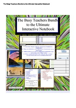The Busy Teachers Ultimate Bundle to Interactive Notebooks