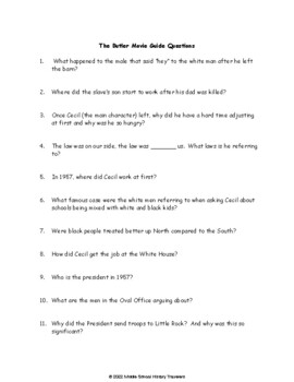 The Butler Movie Questions