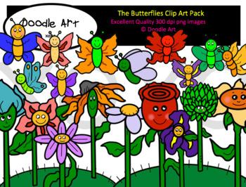 The Butterflies Clip Art Pack