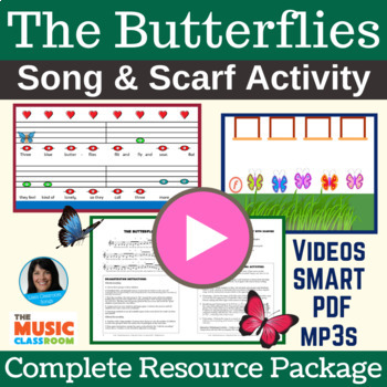 """Butterfly Song   """"The Butterflies"""" Scarf Activity Song   C"""