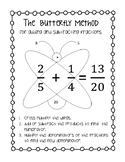 The Butterfly Method for Fractions with Journal Cutouts and Worksheets!