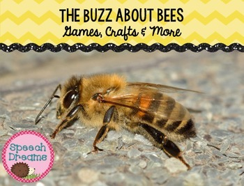 Bee Games and Crafts {Speech Therapy or Classroom use}