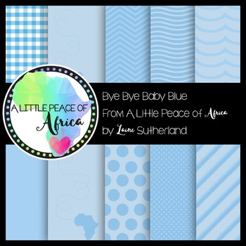 The Bye Bye Baby Blue Paper Collection