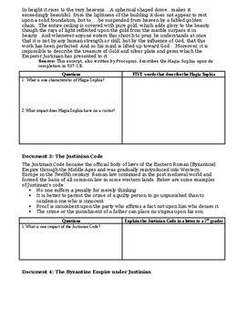 Day 020_The Byzantine Empire and the Emperor Justinian - Lesson Handout