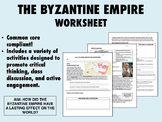 The Byzantine Empire worksheet - Global/World History Common Core