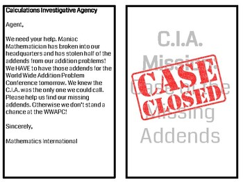 The C.I.A and the Case of the Missing Addends