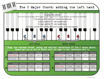 The C Major Chord for Piano - Adding the Left Hand
