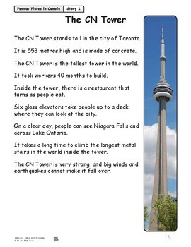 The CN Tower Reading Lesson Gr. 1-2