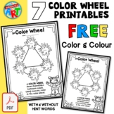 The COLOR (COLOUR) Wheel for Younger Artists FREE Printables