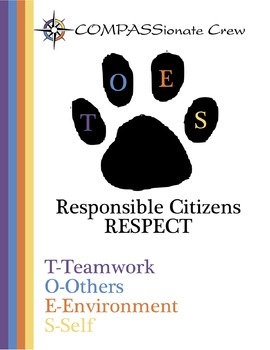 The COMPASSionate Crew Classroom Team Building Posters Package