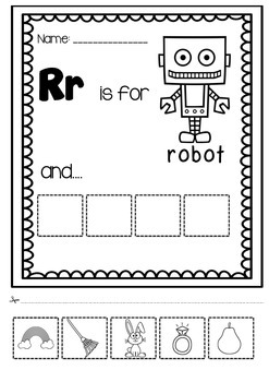 The COMPLETE Cut and Paste- Alphabet WORKSHEETS