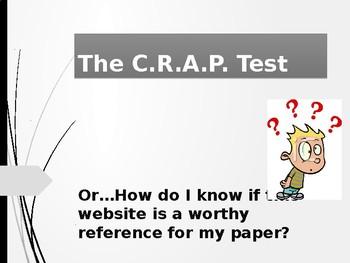 The CRAP Test