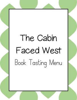 The Cabin Faced West Book Tasting Menu