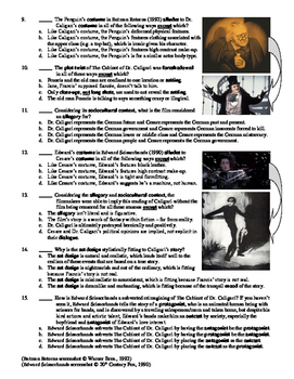 The Cabinet of Dr. Caligari Film (1920) 15-Question Multiple Choice Quiz