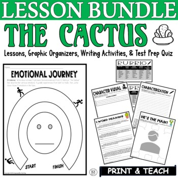 The Cactus by O. Henry: Common Core ELA Test Prep Quiz & Activities BUNDLE