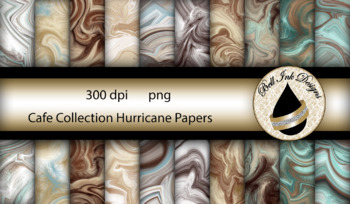 The Cafe Collection Hurricane Papers Clipart