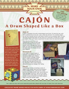 "The Cajón – Make And Play Your Own ""Box Drum"""