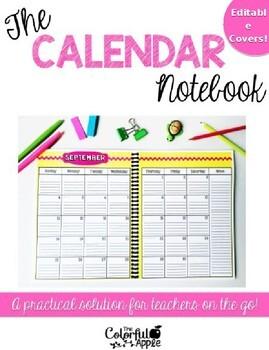The Calendar Notebook ~ Editable Covers