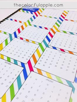 The Calendar Notebook: January - December