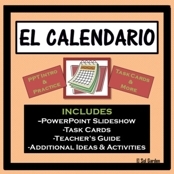 The Calendar and Date (El Calendario y la Fecha) PPT and Task Cards