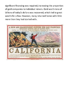 The California Gold Rush (1848–1855) Handout