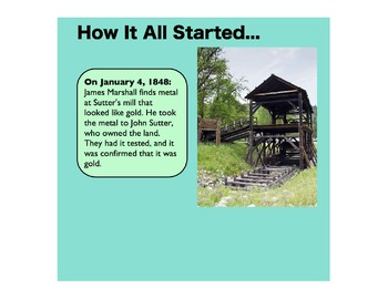 The California Gold Rush: ASmartBoard & Student Sheet Activity Pack: Gr. 3-6