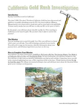 The California Gold Rush Investigation - Common Core
