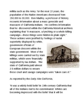 The California Gold Rush and the Native American