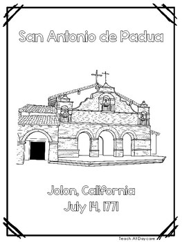 The California Missions Color Book. PreK-Elementary History.