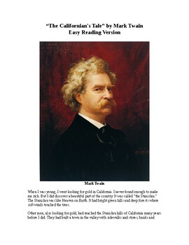The Californian's Tale by Mark Twain - Easy Reading Version