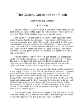The Caliph, Cupid and the Clock - Easy Reading O. Henry Story