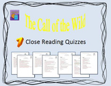 The Call of the Wild by Jack London Close Reading Quizzes