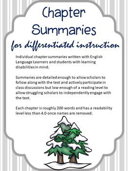 The Call of the Wild: Differentiated Instruction - Chapter Summaries + Comp