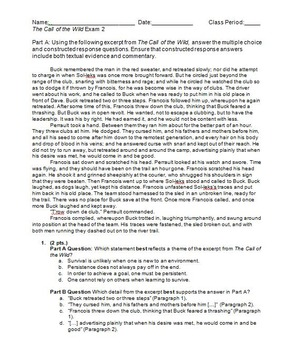 The Call of the Wild Exam 2 (Chapters 4-5)