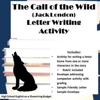 The Call of the Wild Letter Writing Activity (Jack London)