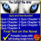Call of the Wild Test and Quiz Bundle Common Core Aligned