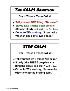 The Calm Equation: Helping Students Take Control of their Anger & Anxiety
