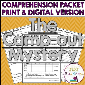 The Camp-Out Mystery Comprehension Packet