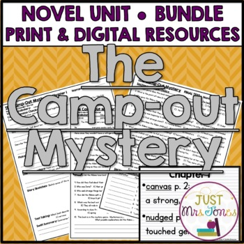 The Camp-Out Mystery Novel Unit
