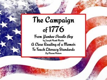 The Campaign of 1776 A Close Reading of a Memoir to Teach