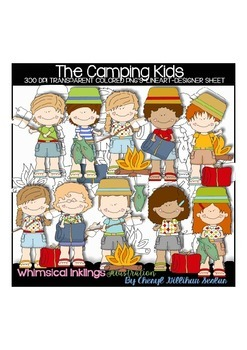 The Camping Kids Clipart Collection