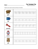 The Camping Trip Trace the Beginning Sounds Worksheets Pre