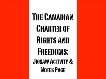 The Canadian Charter of Rights and Freedoms Placemat Activity