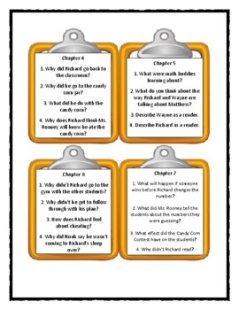 THE CANDY CORN CONTEST by Patricia Reilly Giff - Discussion Cards