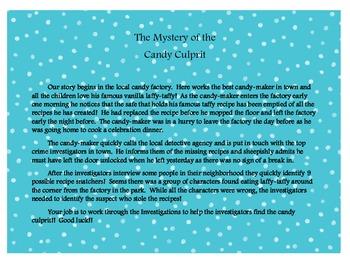 The Candy Culprit - A Math Mystery Activity