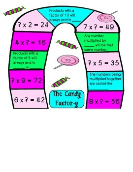 Factors Practice- The Candy Factor-Y Board Game!