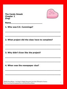 The Candy Smash Lemonade War Book 4 Novel Study
